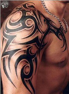 Tribal Tattoos Design For Men On Arm With Many Type Style
