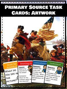 Primary Source Task Cards: Artwork