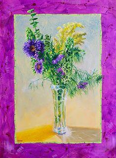"NJ Busse Fine Art-Still Life Floral Painting,Flower Art ""Radiant Orchid"" by Colorado Artist Nancee Jean Busse"