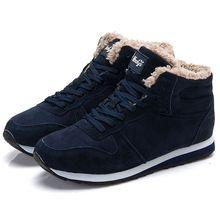 Cargadores de las mujeres Más El Tamaño de Invierno de Las Mujeres Zapatos de Punta Redonda Zapatos de Mujer Botas de Nieve Del Tobillo Zapatos De Mujer Suave Negro(China)