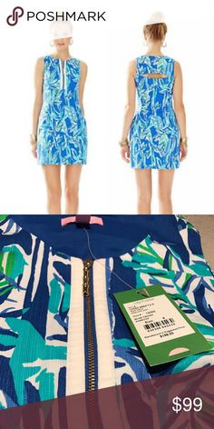 Lilly Pulitzer stunning mini dress The Penelope Shift is printed perfection. With an exposed zipper in the front this shift is perfect for any Lilly girl's day to night look Lilly Pulitzer Dresses Mini