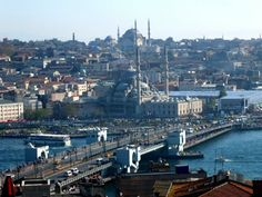 Staying in #Galata - View of Galata Bridge from the rooftops, #Istanbul
