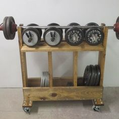 Weight Rack : 3 Steps (with Pictures) - Instructables Home Gym Basement, Home Gym Garage, Gym Room At Home, Home Made Gym, Diy Home Gym, Home Gym Decor, Homemade Gym Equipment, Diy Gym Equipment, Workout Room Home