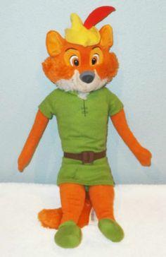 "18"" ROBIN HOOD Disney Plush Stuffed Fox Doll Hoop Retail Store"