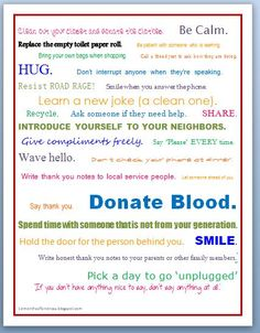 ideas for kindness that are FREE