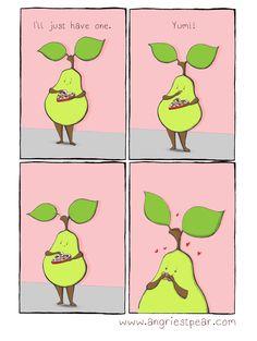 Valentine's Day Chocolate pear comic