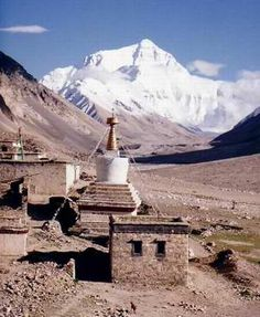 Rongbuk Monastery (elev. 16340 ft.),   Mt. Everest