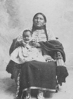 Wife and Child of White Bull....Oglala