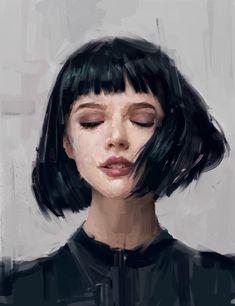 Dijital Sanat: Etkileyici Dijital Portre Ve Tablolar L'art Du Portrait, Portrait Ideas, Artistic Portrait, Acrylic Portrait Painting, Abstract Portrait, Woman Portrait, Painting & Drawing, Acrylic Face Painting, Painting Abstract