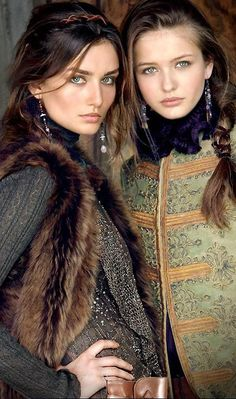 Ralph Lauren Blue Label Fall 2011 - Andreea Diaconu and Kristina Romanova by Sheila Metzner