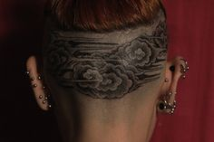 Head Cloud Tattoo Design For Girl