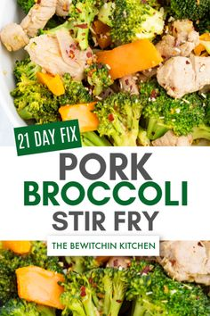 If you want a healthy dinner idea that's perfect for 21 day fix meal prep then you'll love this Ultimate Portion Fix recipe for Pork Broccoli Stir Fry. Pork Broccoli, Broccoli Stir Fry, Zucchini Noodle Recipes, Healthy Soup Recipes, Zucchini Noodles, Leftover Pork, Leftover Rotisserie Chicken, Roast Chicken Recipes, Pork Recipes