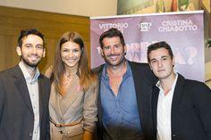 Conferenza stampa con Cristina Chiabotto alla presenza del direttore Rocco Pietropaolo e del redattore Pierluigi Morra