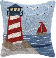 Beach Light Tower Hook Pillow