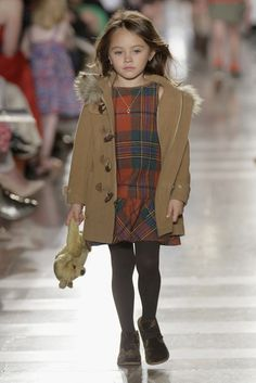 girls plaid dress and toggle button coat | faves from the Ralph Lauren Kids 2014 fall preview
