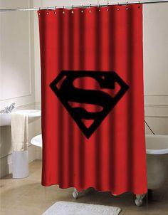Superman Logo Shower curtain
