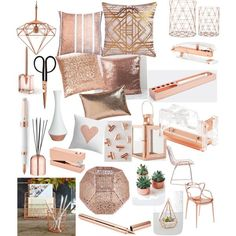 Copper finishes by caitlin1d23-07-10 on Polyvore featuring polyvore, interior, interiors, interior design, home, home decor, interior decorating, Kartell, Zuo and CB2