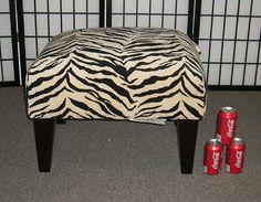 Zebra Room Decor ottoman