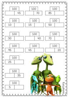 Tal como os anunciaba hace un par de días, os comparto una serie de fichas, con diferentes modelos, para reforzar la suma de decenas y Math For Kids, Fun Math, Math Games, Math Activities, Maths Puzzles, Math Worksheets, Math Resources, Math Enrichment, Math Talk