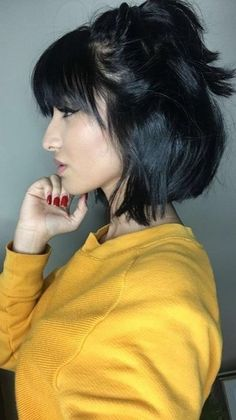 2019 short bob hairstyles and pixie haircuts.You are the best with 2019 short bob hairstyles and . Weave Bob Hairstyles, Short Hairstyles For Thick Hair, Short Hair With Bangs, Short Hair Cuts For Women, Curly Hair Styles, Bandana Hairstyles, Quick Hairstyles, Short Choppy Haircuts, Haircuts With Bangs
