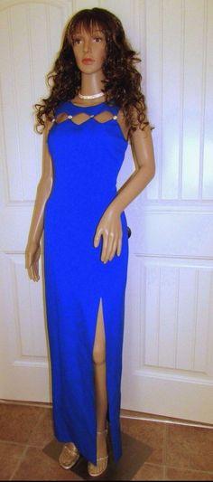 Dress Gown Evening Party Formal Prom Bridesmaid Wedding Women Blue Rhinestones 8 #LAGLO #Sheath #Formal