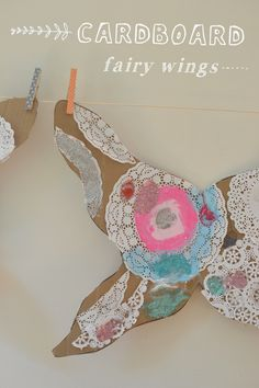 How to Make Fairy Wings for Kids with Cardboard -- So pretty. I LOVE the addition of doilies!!