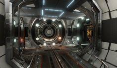 ArtStation - Airlock Junction [Halo 4 Environment Re-creation], Blake Bjerke