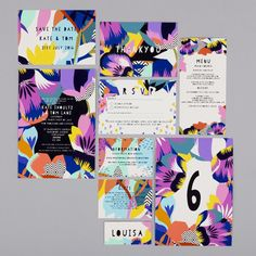 Bright Flowers Wedding Invitations by Kitty McCall