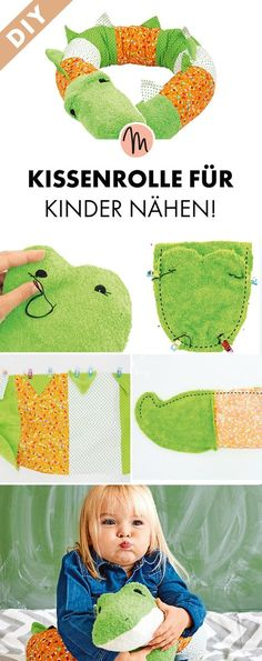 Kissenrolle für Kinder nähen - kostenlose Näh-Anleitung und Schnittmuster via Makerist.de