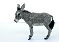 Needle felted Animal . Felted Donkey. Nativity. by darialvovsky, $149.00