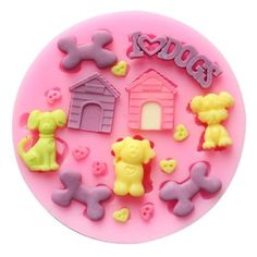 Funny Kitchen Mold Tray Set Mini Dogs Doghouse DIY Silicone Fondant Sugar Mold Candy Making Molds >>> This is an Amazon Affiliate link. Want additional info? Click on the image.