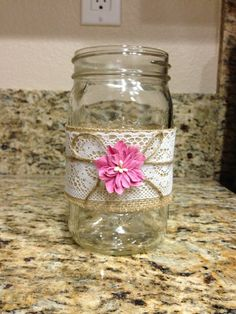 Decorative mason jar large size on Etsy, $7.00