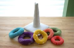 Click here to go back to Sewing :: CraftGossip | Stacking Ring Toy – Free Pattern - Detective Houndstooth