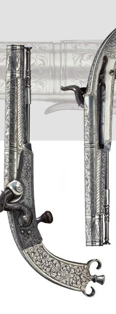 A percussion pistol, Gosset, Paris, circa 1830