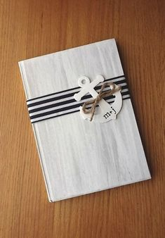 "Personalized Nautical (Wedding) Guest Book. I've always lived by the water, so a nautical theme sounds so ""right"" to me... just like ""taking the plunge""... LOL"