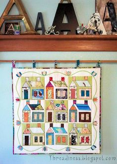 98 best House Sweet House B images on Pinterest   House quilts ... Woolen Spool Designs Box Houses Html on