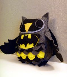 Batman Inspired Owl Plush by CharacterCove on Etsy Batman And Batgirl, I Am Batman, Baby Batman, Batman Stuff, Movies Costumes, All Batmans, Nananana Batman, Thing 1, Geek Out