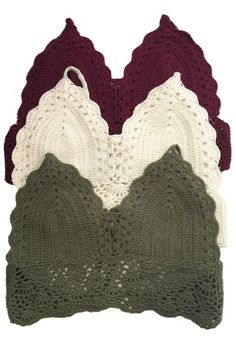 Carefree Crochet Top - Our Carefree Crochet Crop Top is a festival must have! This Off White cropped halter top features crochet detailing and a thin lining over the cups so you can wear it on its own. It has a perfect fit with a tie at the halter top and at the back  One Size Fits Most  100% Cotton