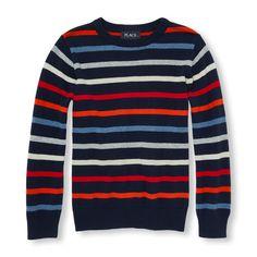Boys Long Sleeve Striped Sweater