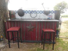 Pallet outdoor bar #Bar, #Outdoor, #Pallets
