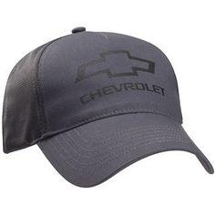 Chevrolet Bowtie Gray Twill Mesh Hat