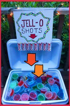 Cookout ideas - outdoor party, BBQ party, beach party (spring break!) Jello shots cooler ideas - summer party ideas