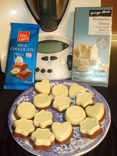 As minhas aventuras com a Bimby: Bombons de chocolate branco e de leite
