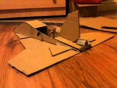 Home made cardboard rc plane (1st attempt)