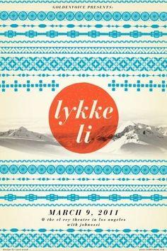 Lykke Li concert poster