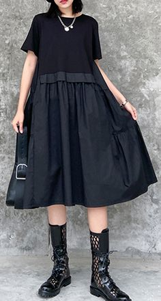 Beautiful o neck wrinkled Cotton summer clothes For Women Shape black Dress Summer Dress Outfits, Summer Outfits Women, Casual Summer Dresses, Summer Clothes, Summer Maxi, Celebrity Dresses, Chiffon, Fashion Wear, Aesthetic Clothes