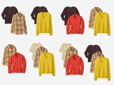 Here are a couple of examples of how my Triple Top Secret selection of tops can work for a really casual trip (or just a day to day wardro...