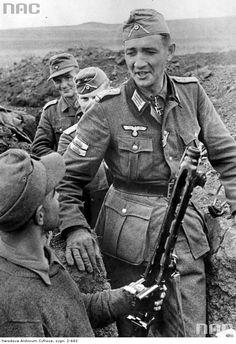 Hautpmann Helmuth Ott , frente de Wschodniego 1944.