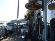 Sausalito Bakery and Cafe - love to get an early Sunday morning coffee here and walk along the waterfront.