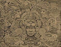 Discover recipes, home ideas, style inspiration and other ideas to try. Mayan Tattoos, Mexican Art Tattoos, 3d Tattoos, Polynesian Tattoos, Tattoo Ink, Aztec Tattoos Sleeve, Chicano Tattoos Sleeve, Aztec Warrior Tattoo, Warrior Tattoos